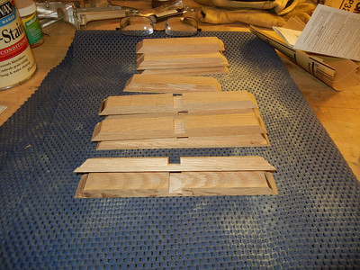 Edge pieces for the removable shelves. I had to get a decent set of stackable dado blades to cut the center cuts just the right width.