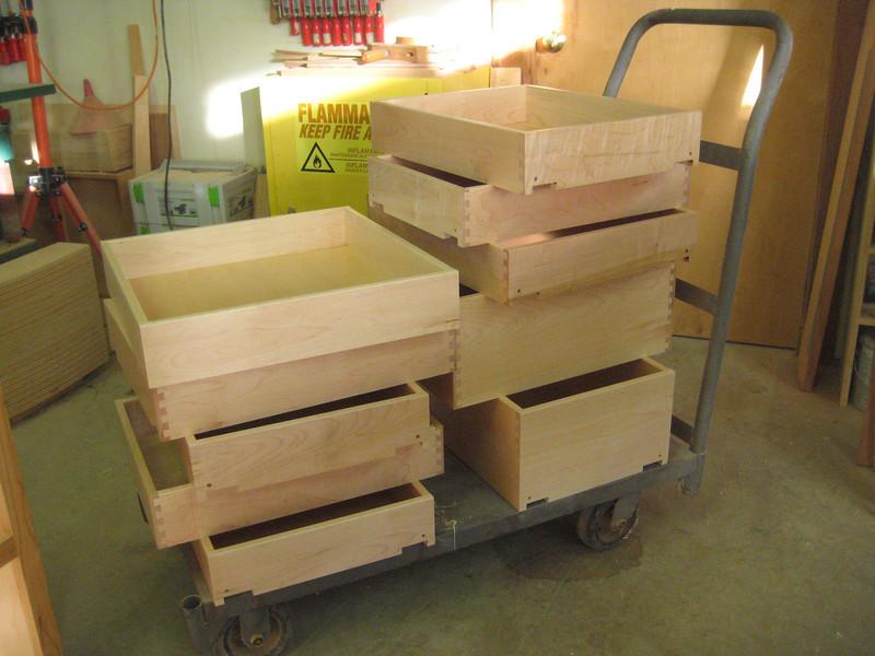 Drawer boxes.