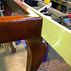 The joints after cleaning up and re polishing. A good coat of beeswax was also added after the Shellac.