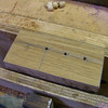 "The new chair leg top is marked for new Dowels. By  <a href=""http://www.harrisonwoodwork.com"">http://www.harrisonwoodwork.com</a>"