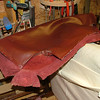 "The seat upholstery was supplied like this. By  <a href=""http://www.harrisonwoodwork.com"">http://www.harrisonwoodwork.com</a>"