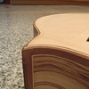 Detail of the ash and Santos rosewood binding.
