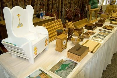 The Woodworkers displayed quite a variety of projects.