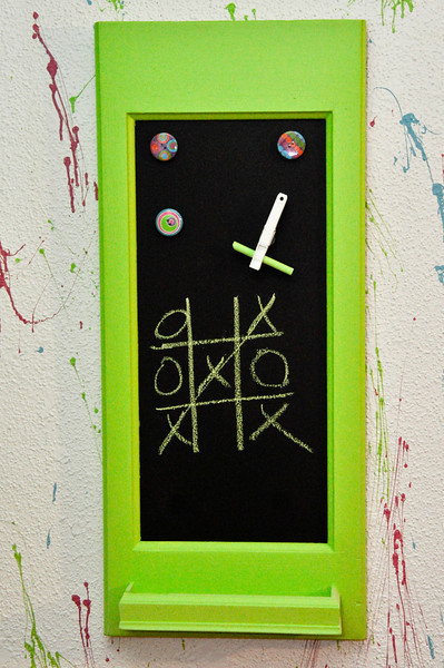 Custom Magnetic Chalk Board made from an old door.