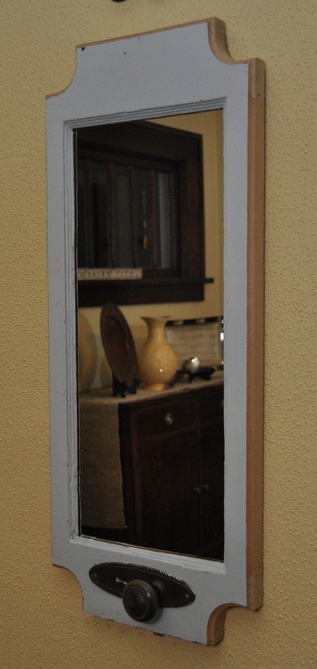 Custom Mirror made with part of an old door.<br /> <br /> Sold to Jen Steele, Jamestown, ND