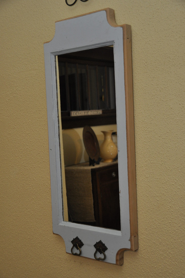 Custom Mirror made with part of an old door.<br /> <br /> Sold to Kathy Braun, Mandan, ND