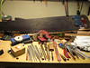 Warranted Superior Saw, Pike Grinder Handy Andy, couple of stones, some Grobet Files, swiss made needle files, Couple of Augers, M Klein and Sons cutters, Wrenches and Pliers