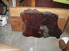 """20 x 30 x 3.5"""" Burl, the finished side, and a 3 x 11 x 40"""" piece of redwood, complete with water stains"""