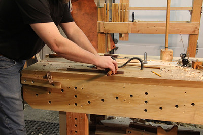 Use a mortise gage to mark the haunch groove and mortise locations