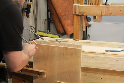 Cut out waste between tenons with a coping saw, or chop if you prefer