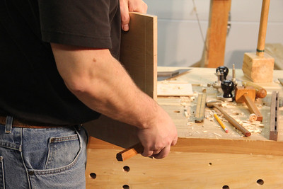 Use the same mortise gage to mark the tenons