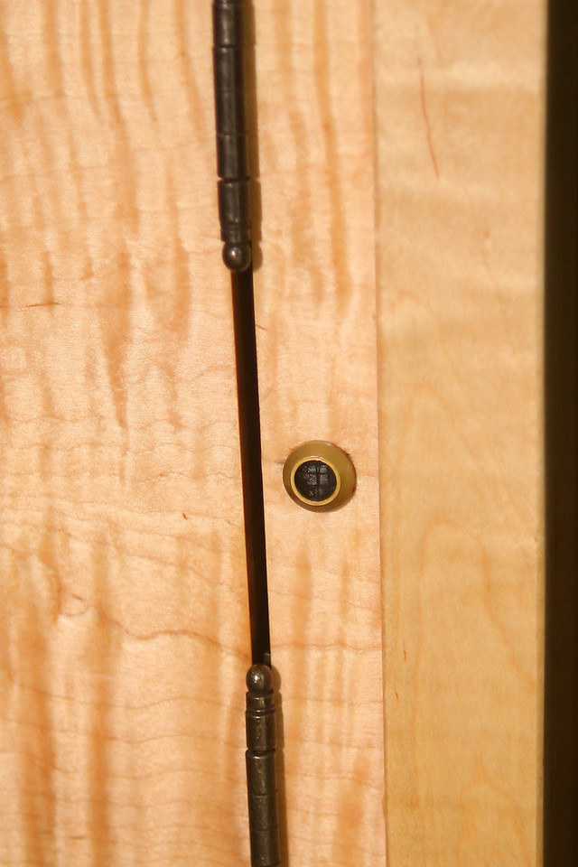 "Built in Xantech ""Peephole"" Infrared Repeater - Allows audiovisual components to be operated with the doors closed"