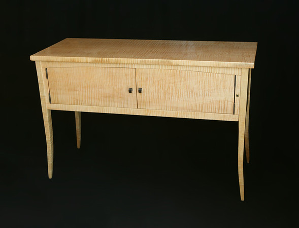 "Audio Sideboard<br /> In Solid Curly Maple.<br /> 46""lx18""wx30""h"