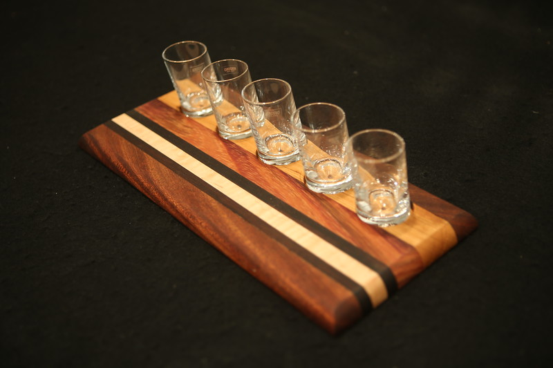 Flight Board: Sapele, Cocobolo, Cherry, and Maple