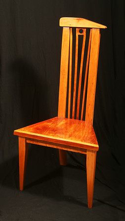Modern Dining Chair<br /> Solid Cherry