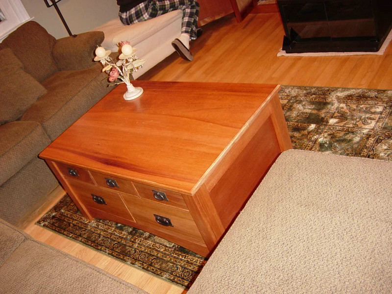 10 Drawer Apothecary-Style Coffee Table<br /> Solid Mahogany<br /> Authentic Stickley Hardware<br /> $1550