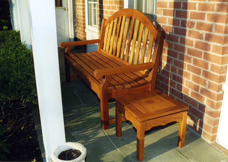 Bench and Table Set<br /> Solid Mahogany<br /> Bench: $1350<br /> Table:  $450