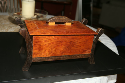 Small Box<br /> Solid Bubinga, Cocobolo, Maple