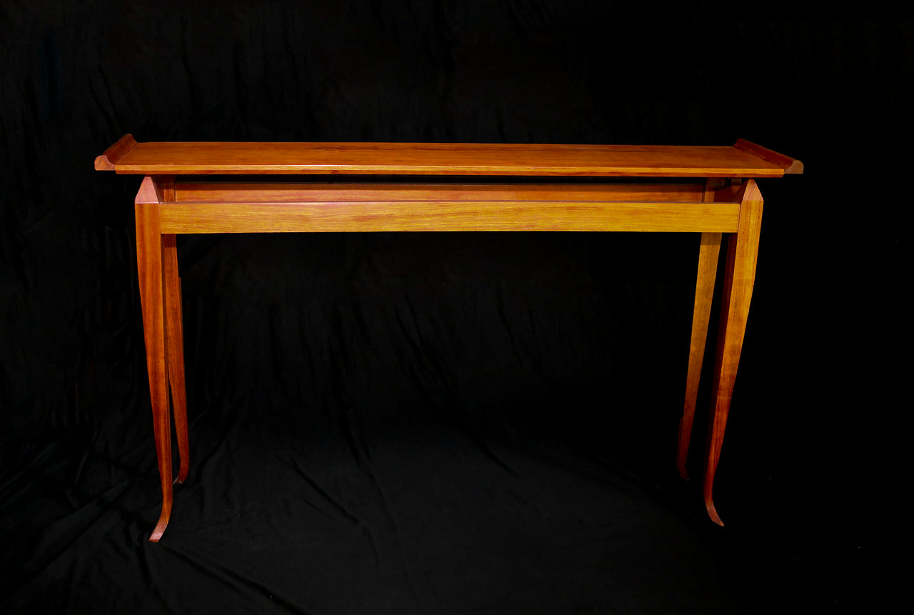 "Sofa Table<br /> Solid Bubinga<br /> 48""lx10""wx29""h"