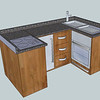"Narrow Boat galley or kitchen designed and installed by  <a href=""http://www.harrisonwoodwork.com"">http://www.harrisonwoodwork.com</a>"