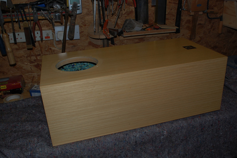 Omega Max Hemp speakers. Replacement of the driver units required the holes to be made slightly larger.