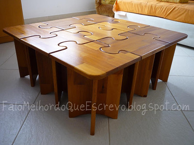 """Puzzle"" wood Table"