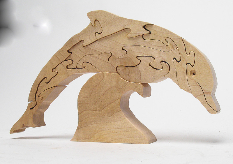 Dolphin cut from hard maple