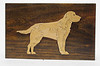 Poplar Wood - One piece of wood with dog cut out of center