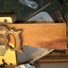 The piece of Madrone being used for my first saw re handle, with a Disston 12 shown for size.