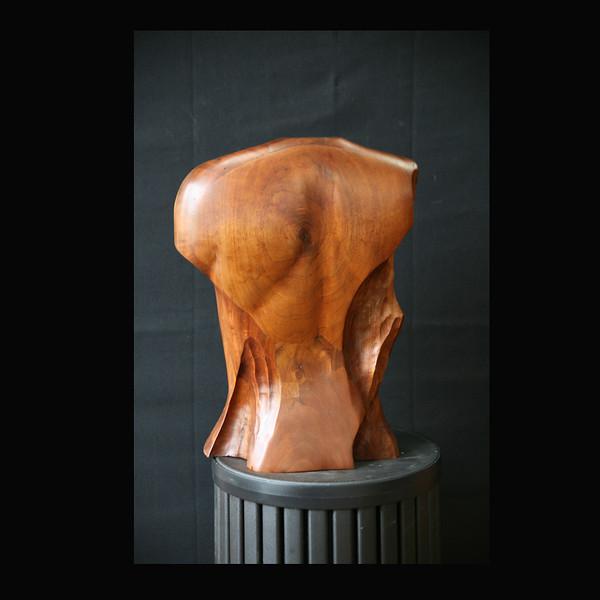 Walnut Wood Sculpture- Female Torso back