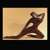 Walnut Wood Sculpture- Kneeling Figure