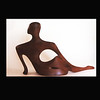 Walnut Wood Sculpture- Sitting Figure