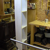 The bathroom cabinet carcase without the back.