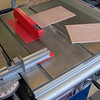 Cutting the centre panels for the shaker doors on the table saw.