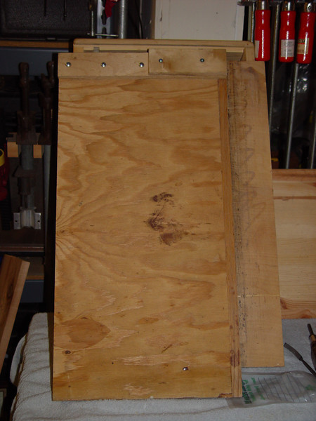 """Shooting board, approx 24"""" tall by 12"""" wide, plus 3"""" runway"""