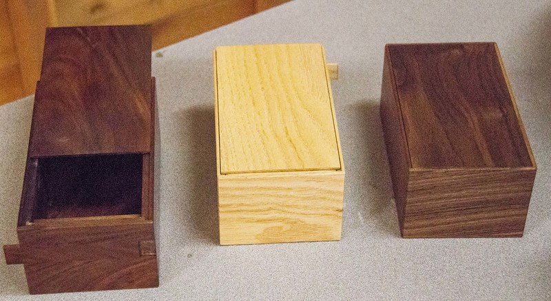 Bob Scott made these three puzzle boxs -  Sep 2016