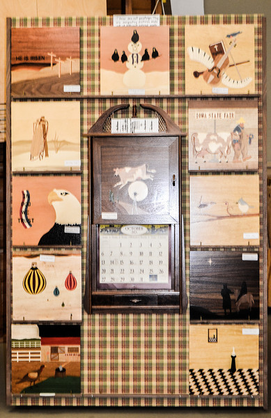 Russ Hansen - Calendar with changable Monthly Marquetry Door Panels. Peoples Choice - Furniture 3rd Place.