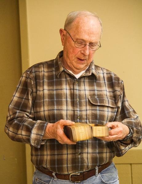 Bob Scott maded this small layered bandsaw box. Jan 2017
