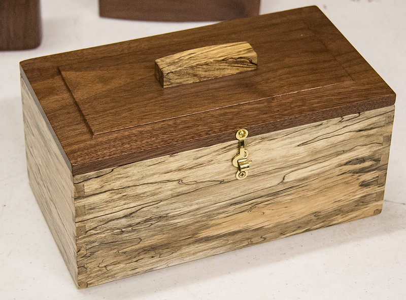 Tom Brumback made this simple box. He said the hardest part was the hindges.