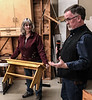 Kathy and John Carman. Kathy made this bench. Nov 2018