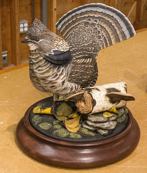 Randy Hansen gave a presentation on wildlife carving at our Feb 2018 Meeting. He also showed some of his work.