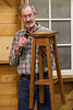 Butch McClintic made this plant stand for his wife.  Apr 2018