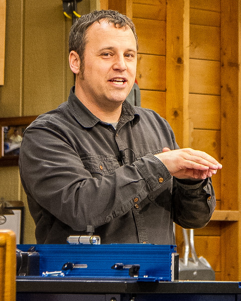 At the Clubs April Meeting, Phil Huber from Woodsmith Magazine made a presentation on ways to make the most of the router.