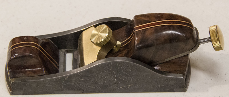 Tom Brumback showed a Block Plane he made at Club Skill Development Class - Mar 2017