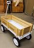Brad Preston showed his Wedding Wagon made from lasered maple.  Nov 2019