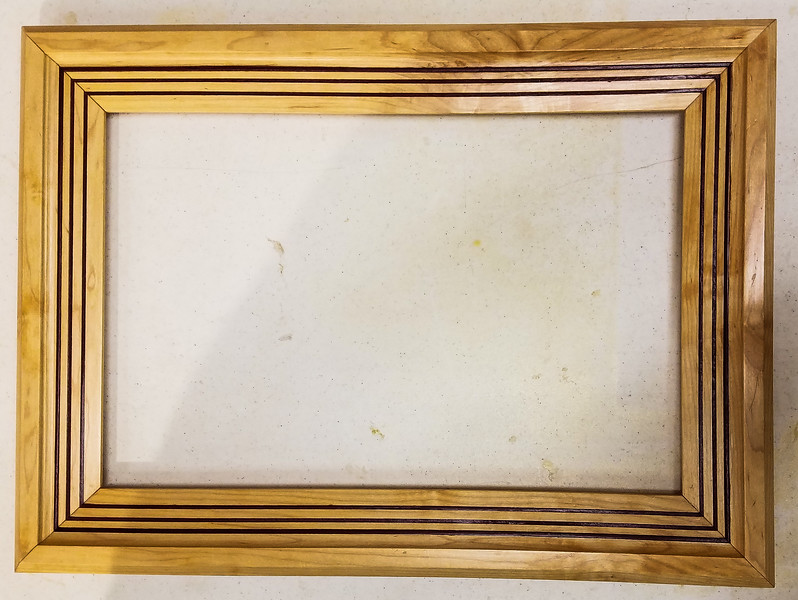Mark Schillerstrom showed his Picture Frame made from repurposed Maple.  Nov 2019