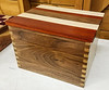 Randy Offenberger showed a Dovetail Box he made - Apr 2019