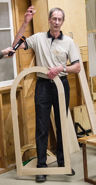 Butch McClintic brought a Curved Top Window Frame he made.  Feb 2015