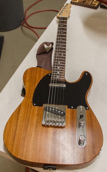 Gene Pedersen made this Fender style Electric Guitar - Feb 2017