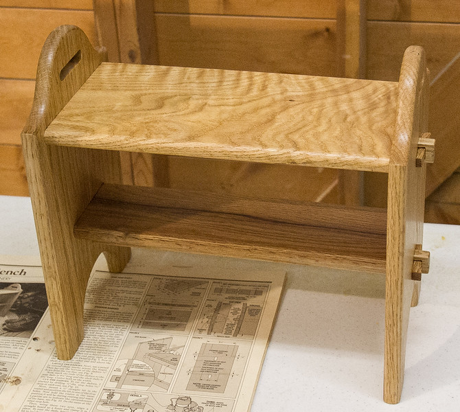 Paul Snider showed a stool he made - May 2017